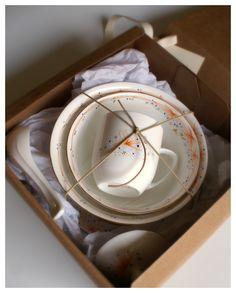 "Vajilla individual porcelana ""Vieja llama"""