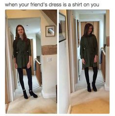 Including dresses: 17 Pictures Short Girls Will Never Understand