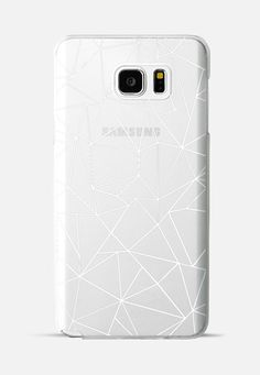 Abstraction Outline White Transparent Galaxy Note 5 case by Project M | Casetify