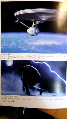 """STAR TREK De USS Enterprise werd op 4 oktober 2363 gelanceerd waardoor we nog maar 347 jaar moeten wachten om dit te zien gebeuren. -- THE TERMINATOR (1984) Arnold Scwarzenegger's bekende lijn """"I'll be back"""", was eerst bedoelt als """"I'll come back""""."""