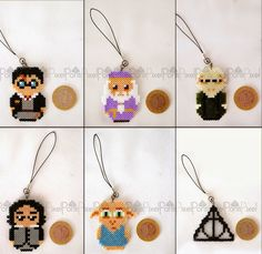 Ponti: Harry Potter Serisi (Kolye, Anahtarlık, Süs, Broş, Bardak Altlığı) Hama Mini, Perler Beads, Drop Earrings, Handmade, Jewelry, Hand Made, Jewlery, Jewerly, Schmuck