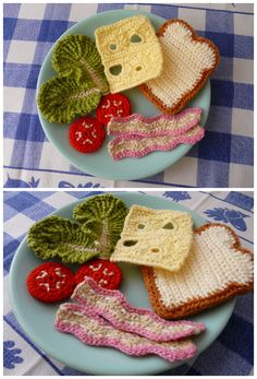 Picture only. Crochet food Sandwich