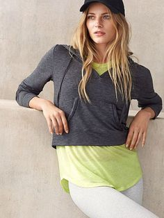 The art of layering. | Victoria's Secret V-Neck Hoodie