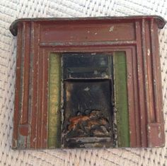 Charbens Vintage Dolls House Lead Fireplace