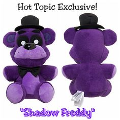 """Five Nights At Freddy's FNAF Shadow Freddy 6"""" Collectible Plush Figure - Hot Topic Exclusive by FUNKO (Officially Licensed FUNKO Merchandise - purchased directly from Hot Topic - Brand New with Original Tags Attached)"""