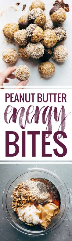 Peanut Butter Pretzel Energy Bites - Easy no-bake recipe with real food like oats, chia seeds, peanut butter, and coconut. Stays soft and delicious for weeks in the fridge!