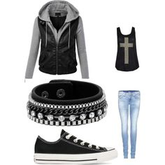 I would wear this as an everyday look Skater Outfits, Rock Outfits, Outfits For Teens, Cute Outfits, Dark Fashion, Unique Fashion, Teen Fashion, Fashion Outfits, Womens Fashion