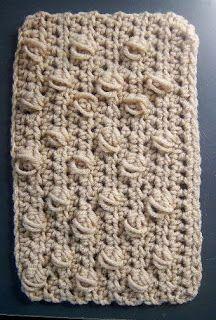 Puff Stitch Crochet Rectangle