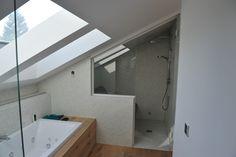 Steam sauna under the pitch of the roof, Dampfbad unter einer Dachschräge