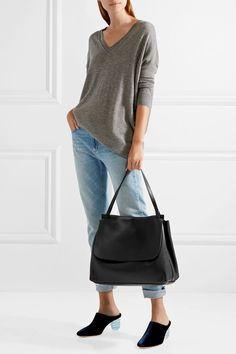 THE ROW tantalizing Textured-leather tote