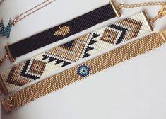 Bead Loom Bracelets, Beaded Bracelet Patterns, Bead Jewellery, Beaded Jewelry, Handmade Bracelets, Handmade Jewelry, Seed Bead Art, Bead Crochet Patterns, Friendship Bracelets Designs