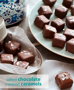 Make these salty-sweet caramels for your loved ones this Valentine's Day. Super easy and oh-so yummy, you're sure to get all the love with this thoughtful homemade gift from the heart. Click or tap photo for this Salted Chocolate-Covered Caramels #recipe.
