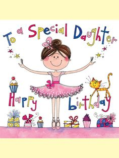 JIG23 Daughter - Ballet - Jigsaw Cards - Rachel Ellen Designs – Card and Stationery Designers and Publishers