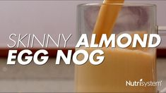 To make sure you still get to enjoy your holiday beverages while remaining on track, we've put a healthy twist on a classic drink… eggnog! Christmas Recipes, Holiday Recipes, Almond Milk Recipes, Fresh Guacamole, Pigs In A Blanket, Chips And Salsa, Holiday Drinks, Non Alcoholic Drinks, Deviled Eggs