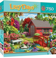 MasterPieces Lazy Days Collection Over the Bridge Puzzle 750 Piece -- Find out more about the great product at the image link.
