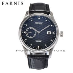 87.00$  Buy now - http://ali1ad.shopchina.info/1/go.php?t=32648263866 - 43mm Parnis Top Brand Men's Automatic Watch Auto-Date Mechanical Self-Winding Watch Sea-gull 2551 Movement 3ATM Genuine Leather  #buyonlinewebsite