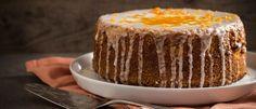 Νηστίσιμο κέικ με ταχίνι με πορτοκάλι - madameginger.com Greek Desserts, Vegan Desserts, Vegan Recipes, Let Them Eat Cake, Vanilla Cake, Bakery, Cheesecake, Food Porn, Favorite Recipes