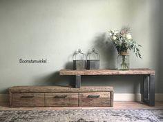 TV meubels met lades | eiken boomstam | met koeienhuid | 10 modellen | Boomstamwinkel