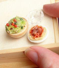 Spaghetti and Salad by *fairchildart on deviantART