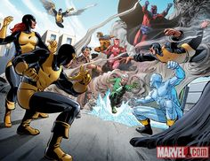 The X-Men vs The Brotherhood of Evil Mutants Art by: Delibor Talajic  Check out the the original clash of The X-Men vs The Brotherhood of Evil Mutants