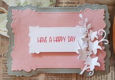 Shaped Card (No Square or Rectangle) & Winners From Ch. Have A Happy Day, Thankful, Frame, Creative, Cards, Picture Frame, Have A Great Day, A Frame, Maps