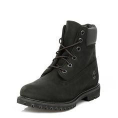 Timberland Womens Black Premium 6 Inch Boots