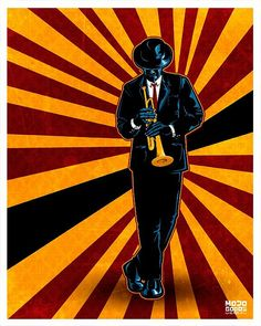 Jazz Poster by Mojo Goods, http://chroniquesdejazz.com/