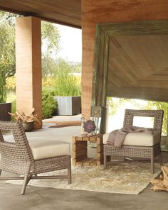 McGuire Furniture: Lounge Chairs & Ottomans: Outdoor