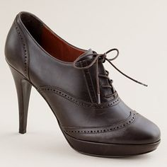 Shop the Pierce high-heel oxfords at J.Crew and see the entire selection of Footwear. Find clothing & accessories at J. High Heel Loafers, Oxford Heels, Oxfords, Wedge Loafers, Women's Heels, Rain Boots, Shoe Boots, Wellington Boot, Womens High Heels