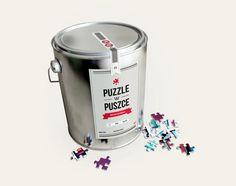 PUZZLES in a CAN by Maciek Blaźniak, via Behance