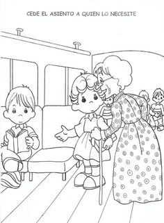 coloring pages for respect | Respect for the elderly - free coloring pages