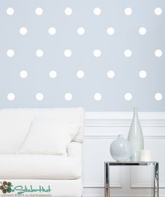 50 Polka Dots Circle - Home Decor Ideas - Vinyl Lettering - Wall Art - Style Wall Patterns Stickers Decals Vinyl Graphics Decor 1568 by thestickerhut on Etsy