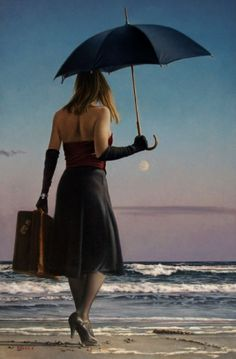 Paul Kelley's sensual art has a romantic appeal, from his figurative painting, fashion artwork, and nude art prints, to his dance artwork and Nova Scotia art. Canadian Artists, American Artists, Canadian Painters, Paul Kelly, Creation Photo, Fashion Artwork, Umbrella Art, Oil Canvas, Edward Hopper