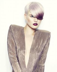 Hair by Matthew Sutcliffe and Lauren Elliott winners of the 2012 L'Oreal Colour Trophy award.