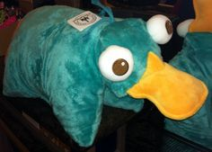 Disney Theme Parks Perry the Platypus Plush Pillow Pet Pal Phineas & Ferb NEW