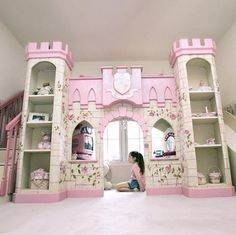 Here is Kids Princess Bedroom Theme Design and Decor Ideas Photo Collections at Kids Bedroom Catalogue. More Picture Kids Princess Bedroom can you found at her Playhouse Loft Bed, Castle Playhouse, Indoor Playhouse, Cheap Bunk Beds, Bunk Beds For Sale, Girl Room, Girls Bedroom, Dream Bedroom, Bedroom Ideas