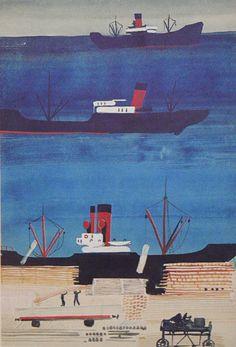 Порт с кораблями1929 - 1930 годыБумага, карандашГрафика67x46 смКурская картинная галерея имени А.А.Дейнеки
