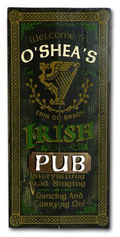 Classic Old Irish Pub Sign