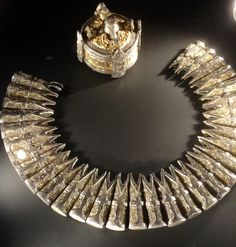 Viking jewelry, currently on display at the National Museum of Scotland.