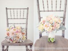 peach,cream + sage  flowers