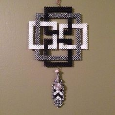 Celtic knot wall hanging perler beads by judesmagicbeadstalk