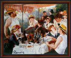"""Lunch of the Boating Party By Pierre-auguste Renoir. Art Print Poster. Framed (18 1/4"""" x 22 1/4"""", Custom Made Real Wood Frame Dark walnut with black trim #4) EuroGraphics,http://www.amazon.com/dp/B00ABQF85A/ref=cm_sw_r_pi_dp_nakGtb0AG0BRKRZ7"""
