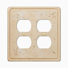 Amerelle 8347DD Cortina Faux Stone Double Duplex Outlet Wall Plate Cover, Toasted Almond – Wall Switch Plates – Residential Lighting - GreyDock.com