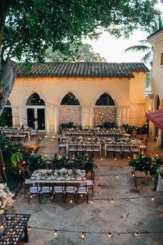 Glamorous Boca Raton Courtyard Wedding – Style Me Pretty