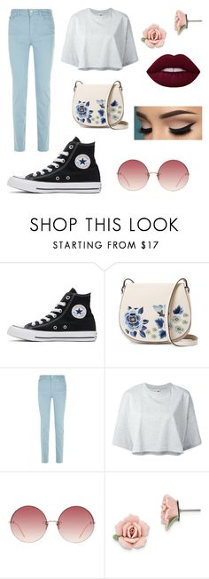 """""""Flash of inspiration"""" by majorfashionguru ❤ liked on Polyvore featuring Converse, French Connection, Armani Jeans, Puma, Linda Farrow and 1928"""