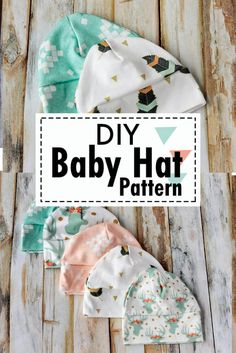 Quick and easy sewing pattern for a baby hat. Quick and easy sewing pattern for a baby hat. Quick and easy sewing pattern for a . Hat Patterns To Sew, Sewing Patterns Free, Free Sewing, Pattern Sewing, Sewing Designs, Free Baby Patterns, Maternity Sewing Patterns, Baby Clothes Patterns, Bag Patterns