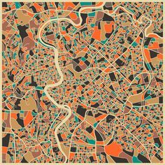 Map of Rome, by Jazz Berry Blue.