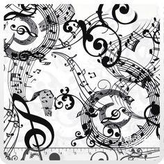 Concerto - Mozart's Mind White Yardage - Kanvas Studios - Benartex - Missouri Star Quilt Company