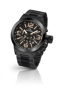 Men's Wrist Watches - TW Steel Canteen Black Dial Chronograph Rose Gold PVD Stainless Steel Mens Watch * You can find out more details at the link of the image. Hermes, Swiss Watch Brands, Luxury Watches For Men, Trends, Metal Bracelets, Cool Watches, Wrist Watches, Ladies Watches, Designer Earrings