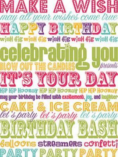 birthday printable